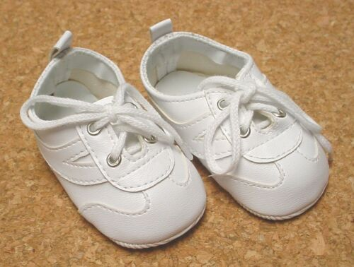 DOLL Shoes, 85mm WHITE w WHITE Sporty Shoes - Chatty Cathy, Mt Toddler