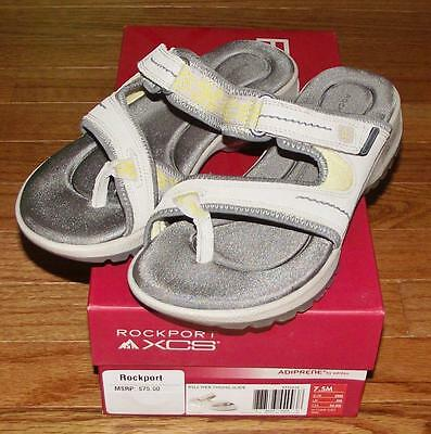 NEW in Box Rockport Womens RocSports Lite XCS Sport Web Thong Slide Sandals