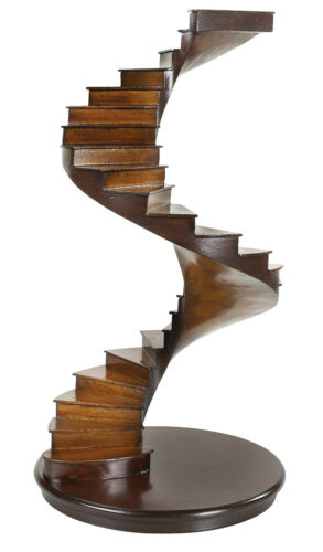 "Spiral Stairs Architectural 3D Wooden Handcrafted Model 15"" Staircase AR019"