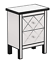 Mirrored Nightstand Bedroom Furniture End Table Night Stand With Drawers Black