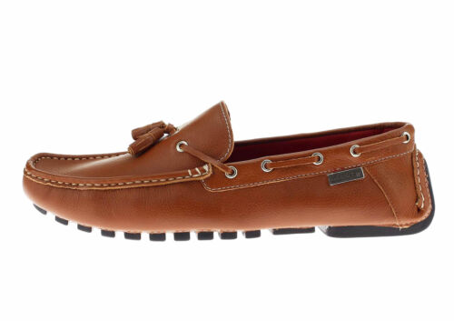 Natazzi Mens Air Grant Driver Leather Shoes Tassel Driving Slip-On Loafer