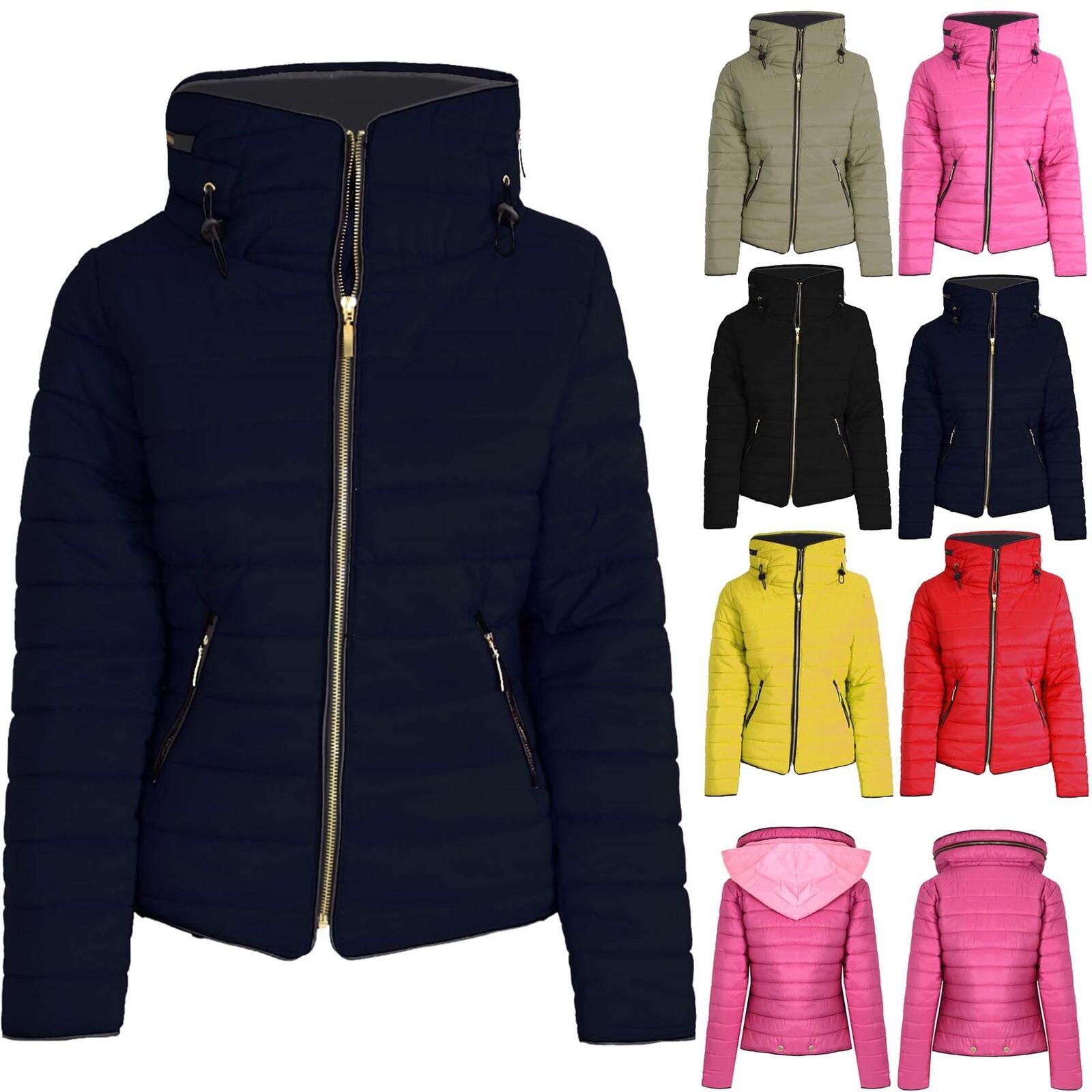 Gyerekek Párnázott Quilted Puffer Lányok Fiúk Bubble Faux Fur Nyakörv Hooded Jacket Coat