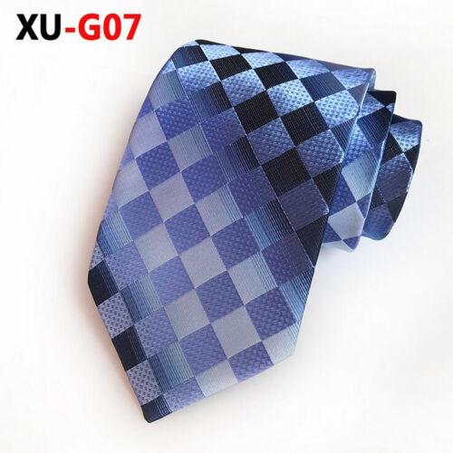 Wedding Men/'s Novelty Plaids Striped Tie Classic Silk Jacquard Woven New Necktie