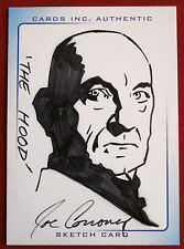 THUNDERBIRDS ARE GO! (2004 Movie) - Scarce INK Sketch, THE HOOD, JOE CORRONEY