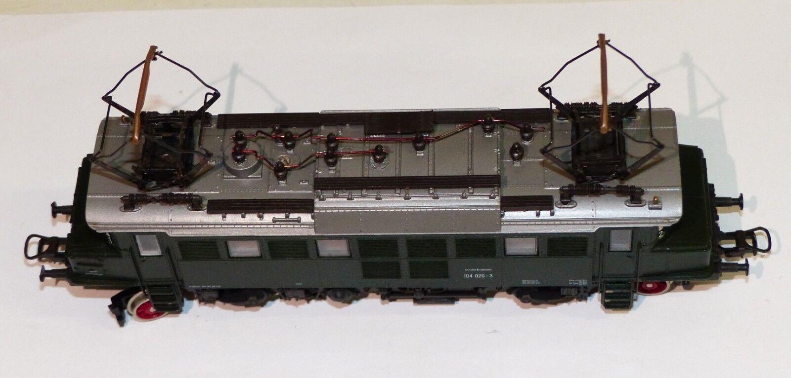 ROCO 4144 4144 4144 S E-Lok BR 104 020-3 DB h0 1 87 verde Elektrolok 04144s 068250