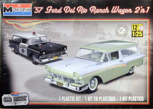 1957 Ford Del Rio Ranch Wagon 2in1 1:25 Model Kit Bausatz Revell 4193