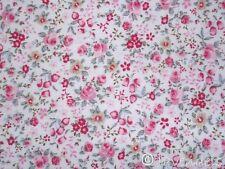 0,5 m Stoff Ökotex ♥ Baumwolle Blumen rot grün♥Florencia Blümchen Millefleurs