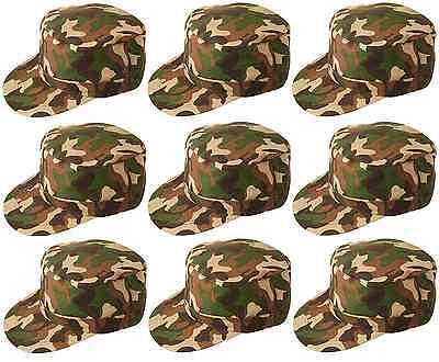 10 X Unisex Mimetico Militare Camo Soldato Cappello Costume Baseball H06 119