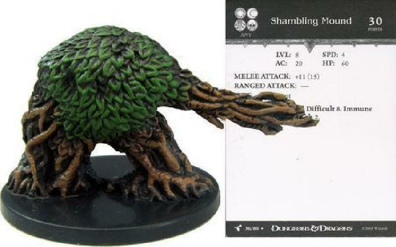 D&D Mini - SHAMBLING MOUND  (Harbinger Series - RARE with CARD and SEALED  )