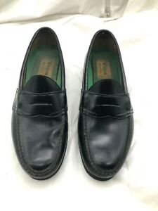 Mens Bass Weejun Walkers Black Penny Loafers Dress Shoes 8 ...