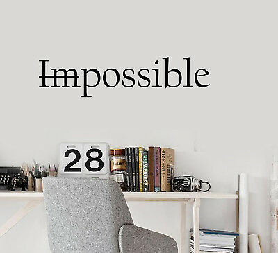Vinyl Wall Lettering Quote Words Inspiring Motivation Believe Possible 2077ig