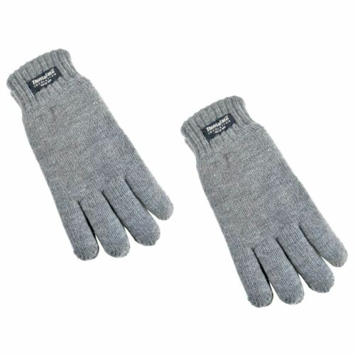 2 Pairs Boys Thinsulate Gloves Thermal Warm Kids Winter Accessory 6-13 Years