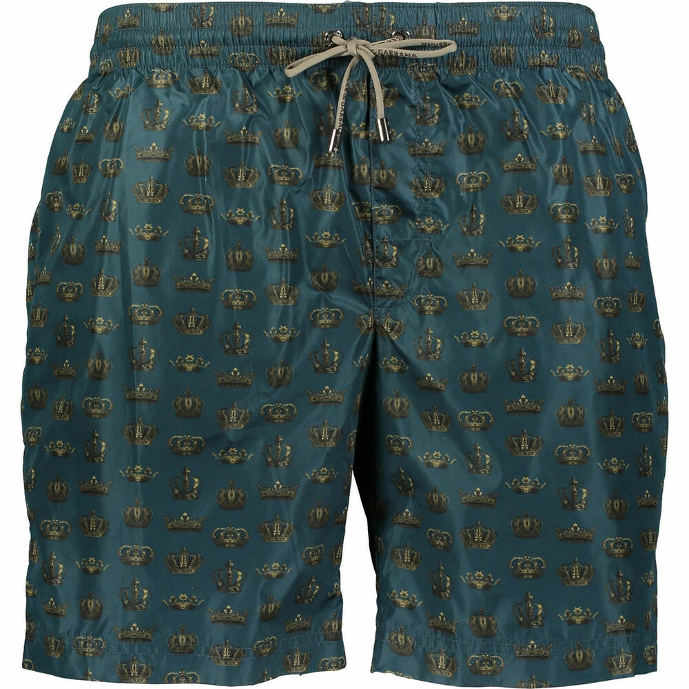 50% De Réduction Dolce & Gabbana Blue Crown Print Swim Shorts Usa M, Uk L Rrp £ 350