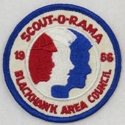 Blackhawk Area Council 1966 Scout-O-Rama Blue Border Rockford, Illinois [W10417]