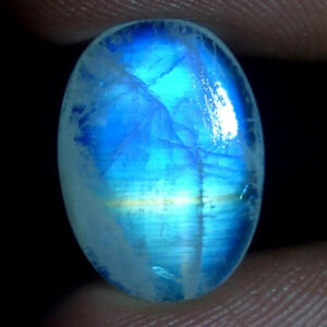 21x35 mm Huge Size Rainbow Moonstone High Quality Gorgeous  Rainbow Blue Fire Strong Flash  Oval shape Cabochon