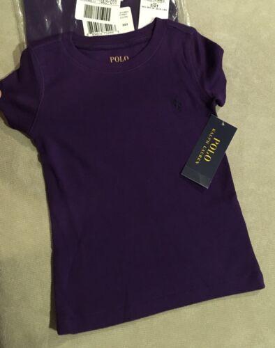 Ralph Lauren Dark Purple  2T Girl T-Shirt Tee Top ultra soft Pima cotton blend
