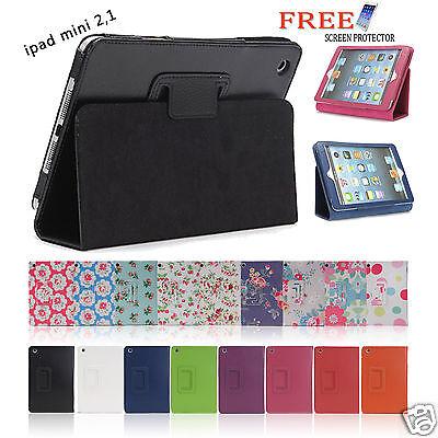 Flower Pu Leather Smart Cover Case for Apple iPad mini 2 1