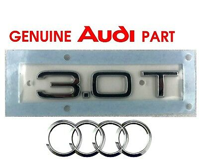 Silver Chrome A8 3.0T Lettering Rear Boot Lid Trunk Badge Emblem For A8 Models