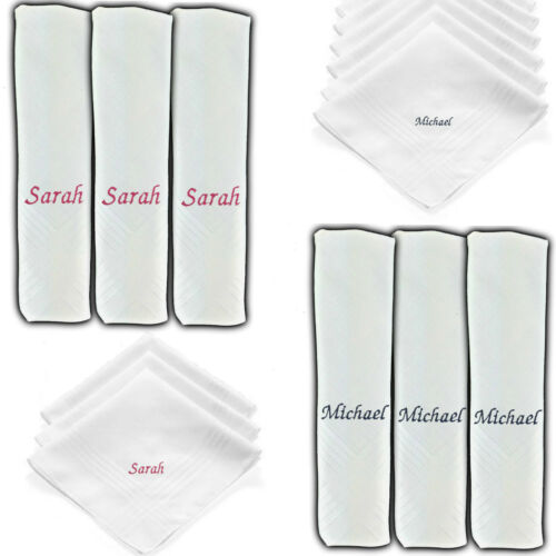 DAD DADDY FATHER POPS MENS PERSONALISED HANDKERCHIEF ANY NAME COLOUR HANKIE DAY