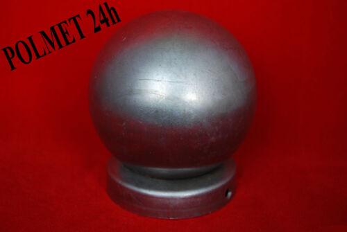 Pfostenkappe aus Stahl für Rundpfosten  Ø60 mit Kugel Ø80mm   Pfostenabdeckung