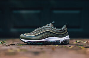 d80a221a1f WOMEN'S NIKE AIR MAX 97 - UK SIZE 5.5 - OLIVE GREEN/WHITE 921733-200 ...