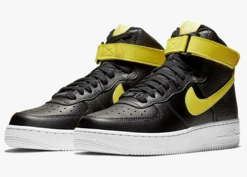 334031 014 WOMENS NIKE AIR FORCE 1 HIGH LE SIZE 4.5 EUR 38 BLACK// YELLOW PULSE