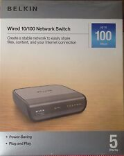Belkin Wired 5-Port 10/100 Network Switch 1 Ea ~Sealed Pack~Free Shipping