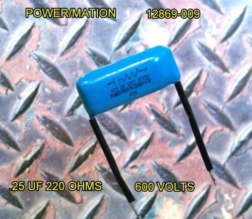 POWER//MATION RC Network 12869-009 .25 uf 220 ohms 600 volts