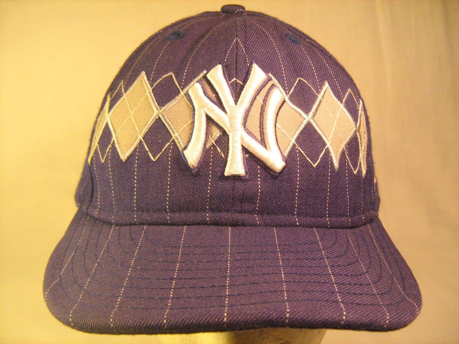 Men's Cap MLB NEW YORK YANKEES 59FIFTY NEW Size 7 1/2 Blue NEW 59FIFTY ERA [M3e] ec9df5