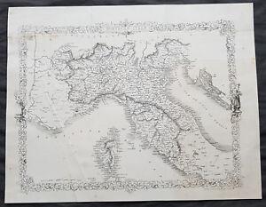 1860-John-Rapkin-Original-Antique-Map-of-Northern-Italy