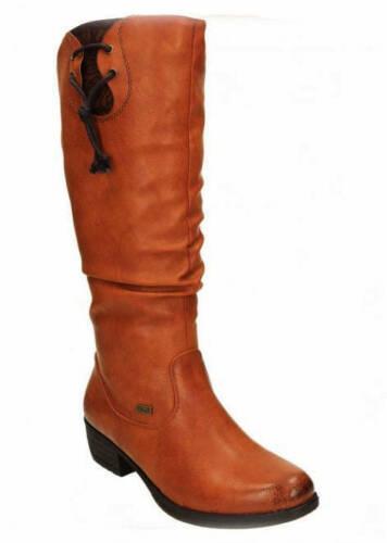 Ladies Casual Knee High Boots Rieker 93161-24 Brown EU Size 36-42