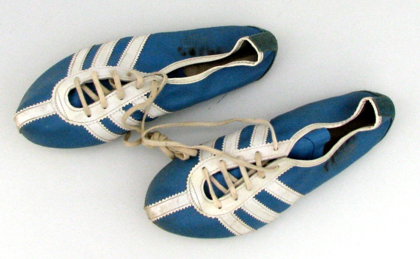 VINTAGE ADIDAS AVANTI SPIKES Sprintschuhe schuhe 70er Jahre Jahre Jahre Blau Weiß 3 Streifen ab3ec9