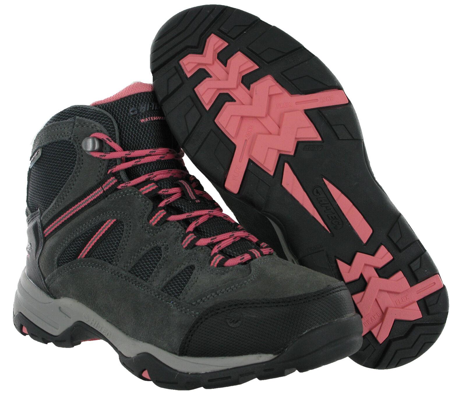 Hi-Tec Walking Bandera Leather Waterproof Suede Walking Hi-Tec Hiking Trail Donna Boots 8f5d66