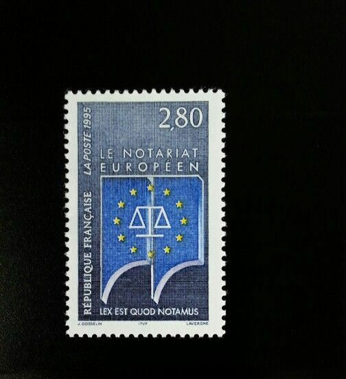 1995 France European Notaries Public Scott 2452 Mint F/