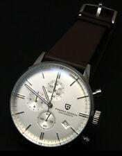 PAGANI 43m White Dial Casual Chronograph Men's Japanese Quartz Parnis WATCH 070
