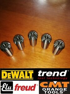 """Dewalt, Trend, Elu, Freud 1/4"""" Router Collet DW625, T9, T10.,T11, MOF177, MOF131"""