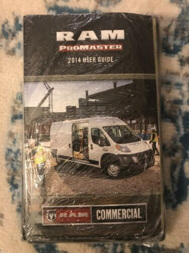 2014 Dodge Ram Promaster 1500 2500 3500 Cargo Van Owner Manual User Guide New
