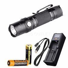 Fenix Ld12 2017 320 Lumen Small EDC LED Flashlight W/ AA 14500 & USB Charger