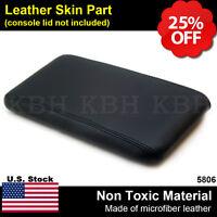 Leather Center Console Lid Armrest Cover Fits For Ford Ranger 1998-2004 Black