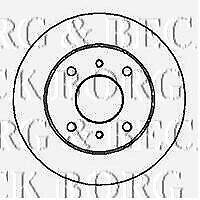Rear Borg /& Beck BBD5241 Brake Disc Pair