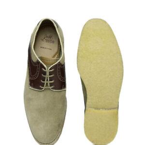 0bc34af9d8aa Details about Johnston   Murphy 1850 Mens Lace Up Saddle Oxford Shoe  Sheepskin Crepe Sole 10