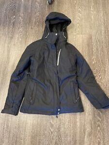 Women-039-s-Columbia-Interchange-M-Coat-w-Fleece-Layer-Black-Jacket-w-Hood-Ski