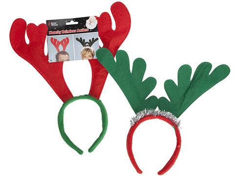 12 x renna corna su Cerchietto Natale Fancy Dress Ufficio Xmas Party Addio al Celibato
