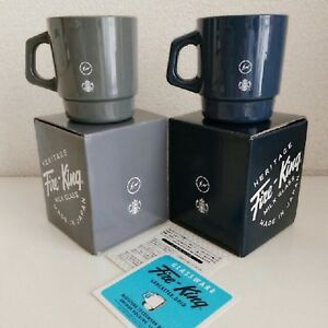 Starbucks-Design-x-Fire-King-Fragment-Vetro-Tazza-Navy-Grigio-2Set-2018-Limitata