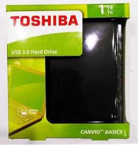 TOSHIBA 1TB Canvio Basics USB 3.0 External Hard Drive HDTB310AK3AA-----