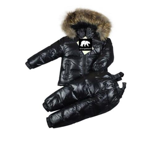 Winter Kids Clothing Set Jacket Coat And Pants Parka Down Hooded Solid Outerwear