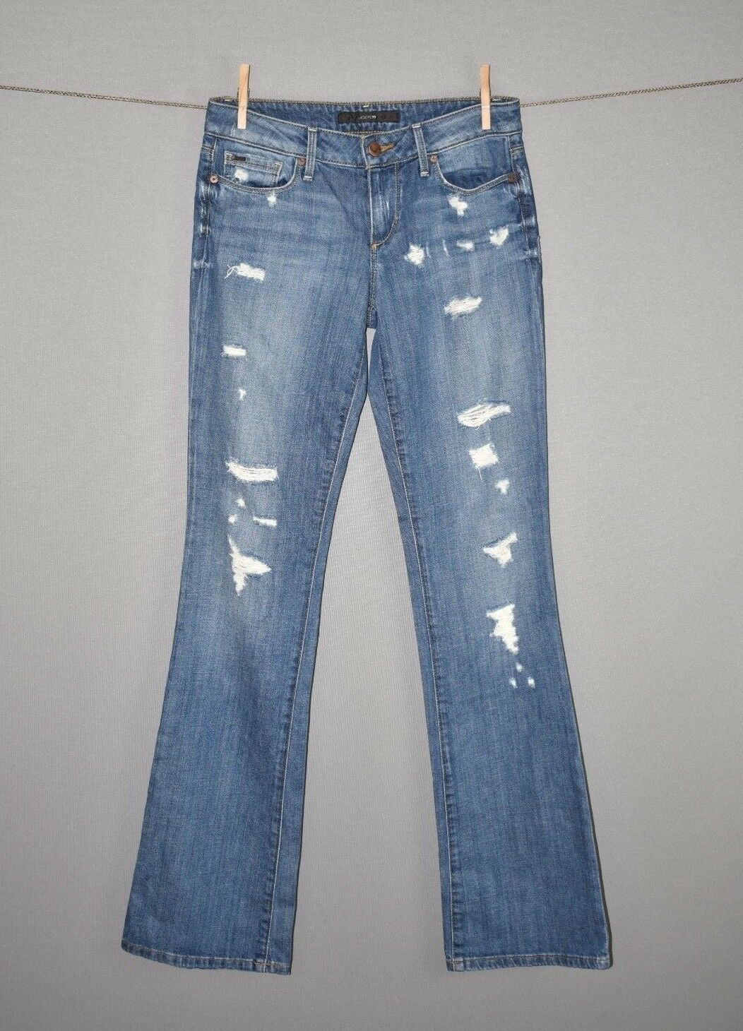 JOE'S JEANS NEW  178 Destroyed Ripped Curvy Honey Boot Cut Denim Jean Size 27