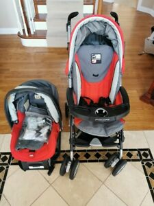 Peg Perego Pliko P3 Stroller and Car Seat Red/Grey ...