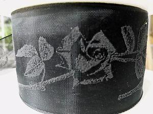 3 M Deuil Conjonctif Deuil Boucle Rose 50 Mm Trauerband Noir Bande Deuil Bijoux-afficher Le Titre D'origine