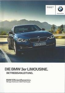 BMW-3er-F30-Betriebsanleitung-2016-Bedienungsanleitung-Handbuch-Limousine-BA